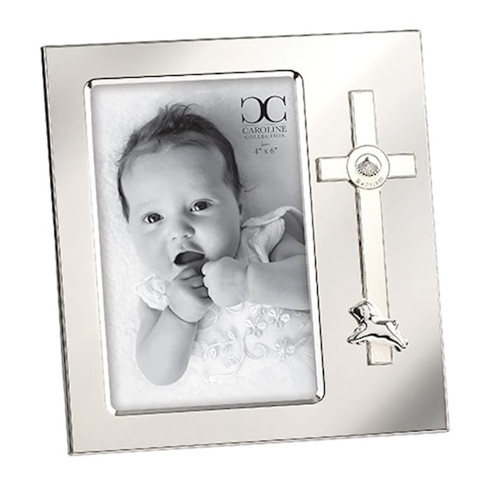 Frame-Baptism Cross w/Lamb (Holds 4 x 6 Photo) | SHOPtheWORD