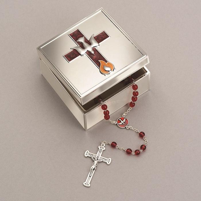 "Keepsake Box-Confirmation-Cross & Dove (2.25"") | SHOPtheWORD"