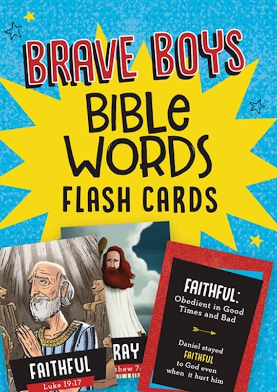 Brave Boys Bible Words Flash Cards (Apr 2021) by Barbour | SHOPtheWORD