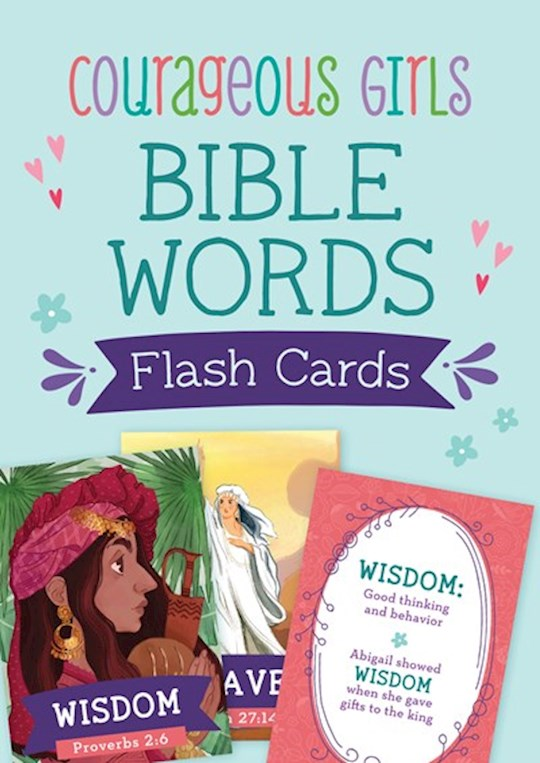 Courageous Girls Bible Words Flash Cards (Apr 2021) by Barbour | SHOPtheWORD
