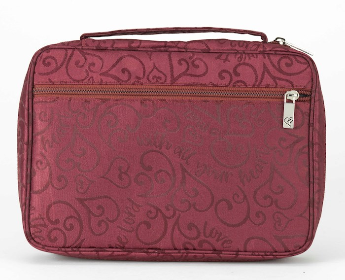 Bible Cover-Love The Lord Jacquard-XX Large-Burgundy | SHOPtheWORD