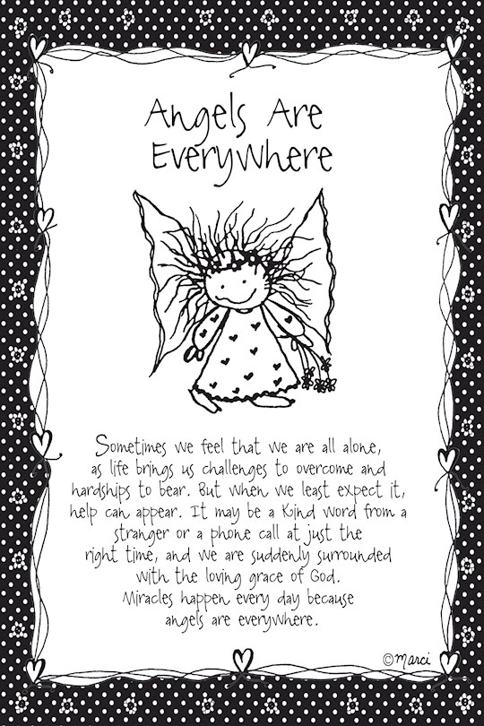 """Plaque-Marci Art-Angels Are Everywhere (6"""" x 9"""")    SHOPtheWORD"""