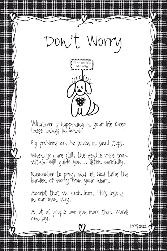 "Plaque-Marci Art-Don't Worry (6"" x 9"")  