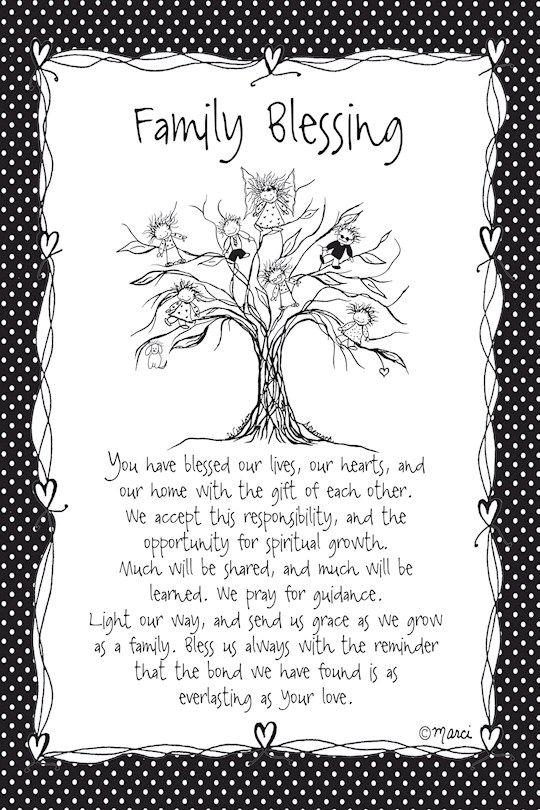 """Plaque-Marci Art-Family Blessing (6"""" x 9"""")  