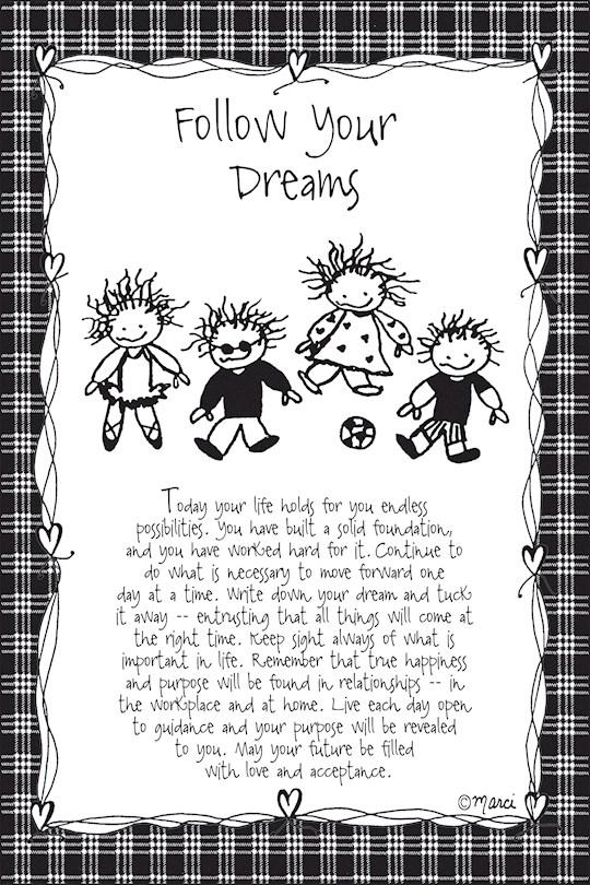 "Plaque-Marci Art-Follow Your Dreams (6"" x 9"")  | SHOPtheWORD"