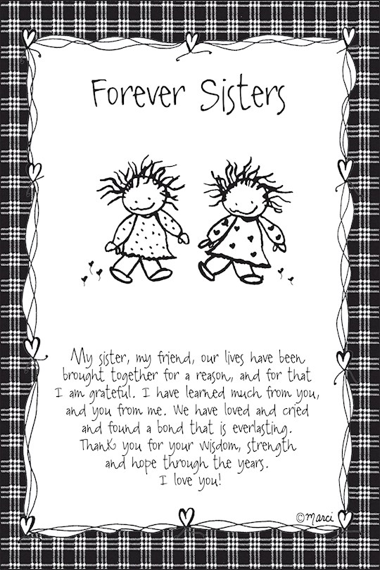 "Plaque-Marci Art-Forever Sisters (6"" x 9"")  