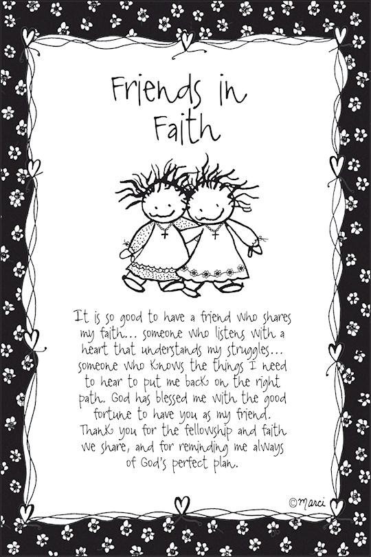 "Plaque-Marci Art-Friends In Faith (6"" x 9"")    SHOPtheWORD"