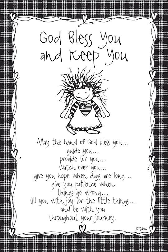 "Plaque-Marci Art-God Bless You & Keep You (6"" x 9"")  | SHOPtheWORD"