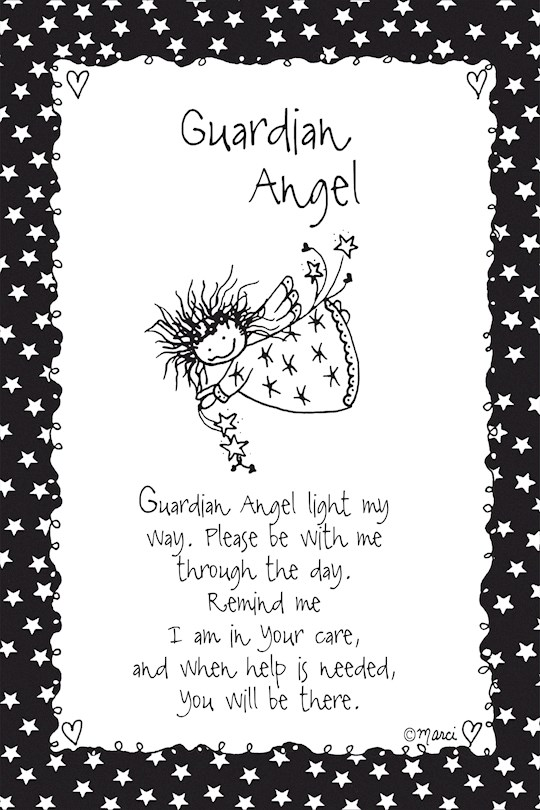 "Plaque-Marci Art-Guardian Angel (6"" x 9"")  | SHOPtheWORD"
