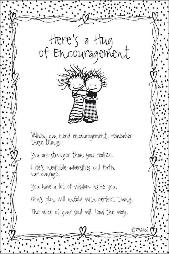 "Plaque-Marci Art-Here's A Hug For Encouragement (6"" x 9"")    SHOPtheWORD"
