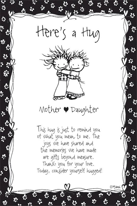 "Plaque-Marci Art-Here's A Hug-Mother/Daughter (6"" x 9"")  | SHOPtheWORD"