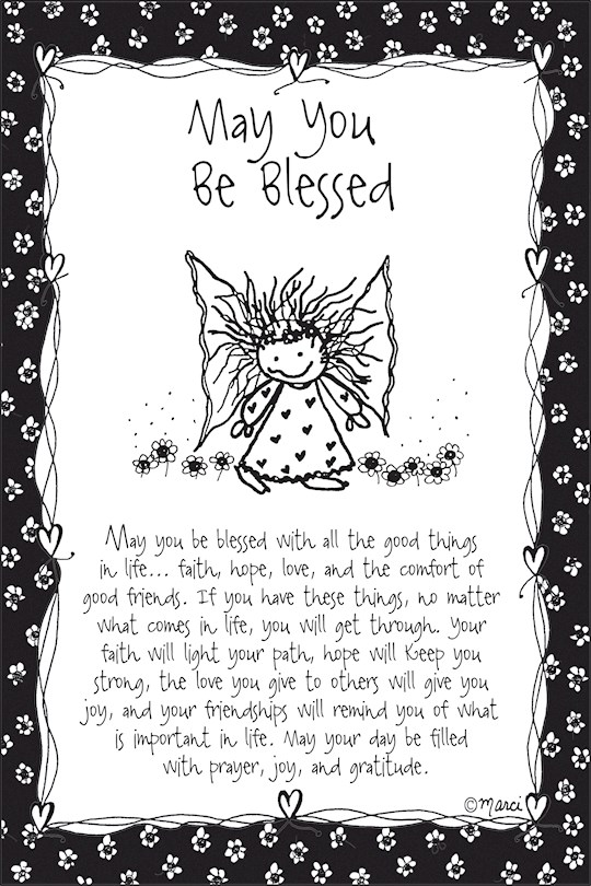 "Plaque-Marci Art-May You Be Blessed (6"" x 9"")  