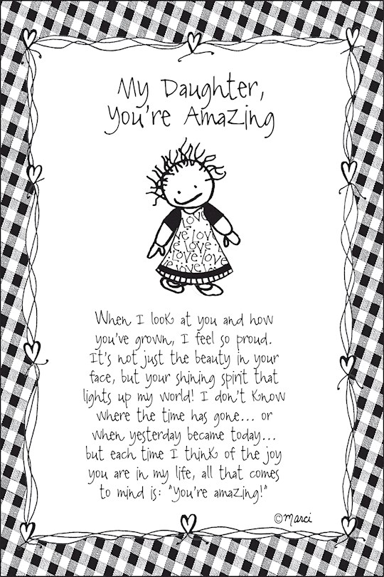 """Plaque-Marci Art-My Daughter...You're Amazing (6"""" x 9"""")  