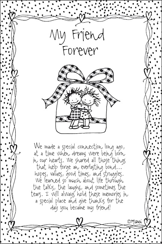 "Plaque-Marci Art-My Friend Forever (6"" x 9"")  