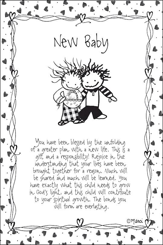 "Plaque-Marci Art-New Baby (6"" x 9"")  | SHOPtheWORD"