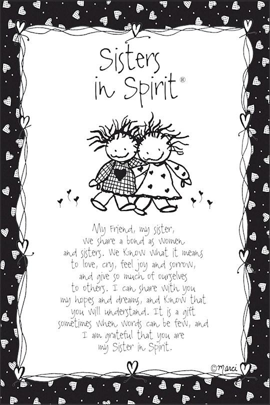 "Plaque-Marci Art-Sisters In Spirit (6"" x 9"")  | SHOPtheWORD"