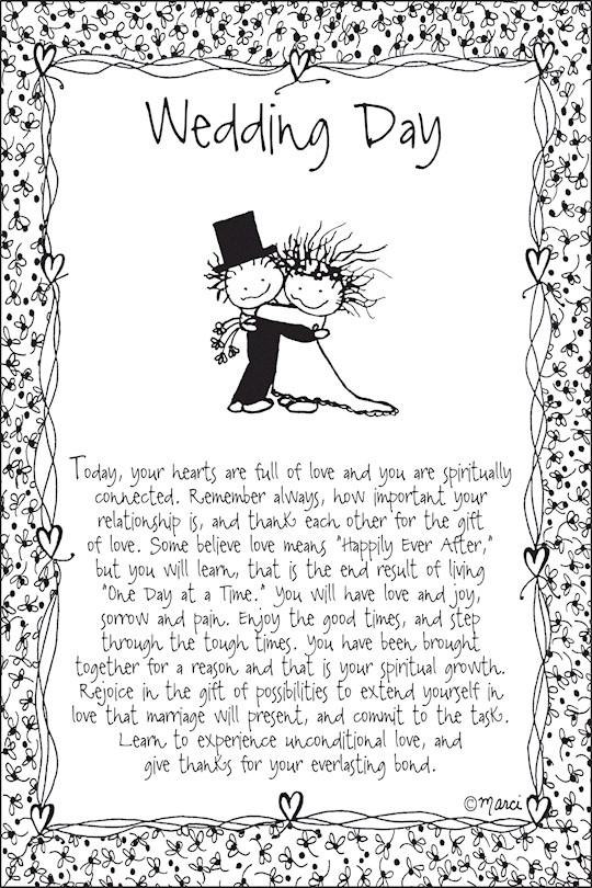 "Plaque-Marci Art-Wedding Day (6"" x 9"")  | SHOPtheWORD"