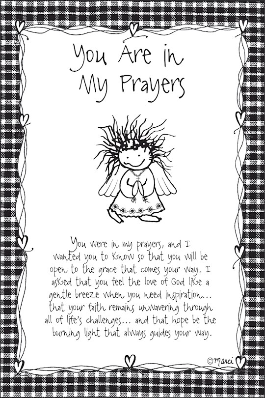 """Plaque-Marci Art-You Are In My Prayers (6"""" x 9"""")  