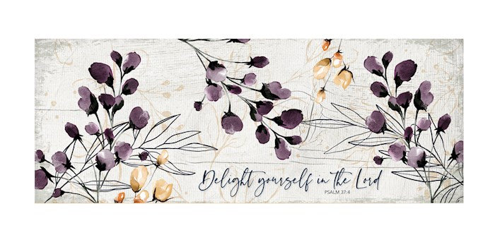 """Plaque-New Horizons-Delight Yourself In The Lord (6"""" x 15.75"""") 