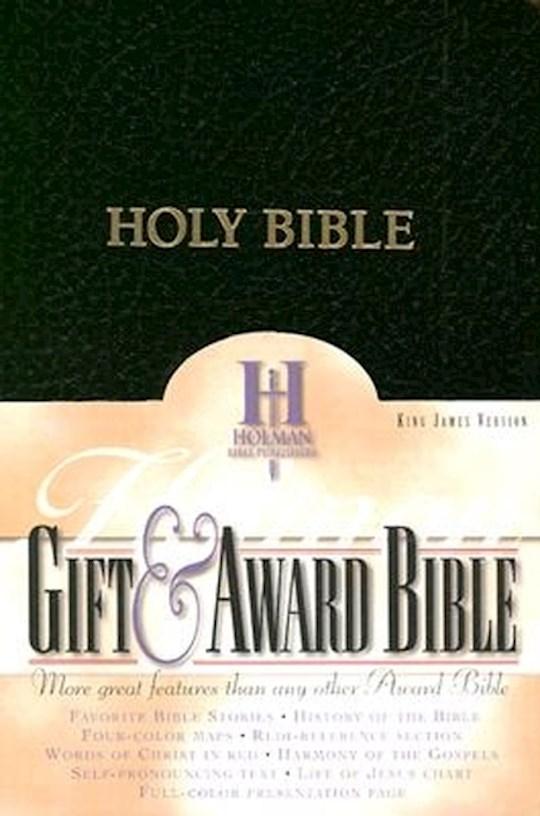 KJV Gift & Award Bible-Black Imitation Leather | SHOPtheWORD